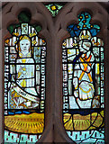 TM1273 : St Mary's church in Yaxley - medieval glass by Evelyn Simak