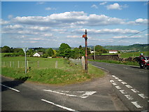 NS3760 : Broken Sign Post by Gordon Dowie