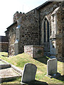 TF6422 : St Mary's church in South Wootton - churchyard by Evelyn Simak