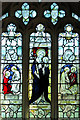 TF6422 : St Mary's church in South Wootton - stained glass by Evelyn Simak