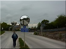 SK2055 : Give way to walkers by Peter Barr