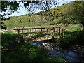 SN1641 : Footbridge over Afon Piliau by ceridwen