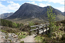 NN2256 : Footbridge on the West Highland Way by Dorothy Carse
