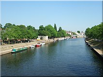 SE5952 : River Ouse from Scarborough Bridge, York by David Smith