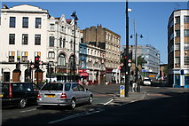 TQ3382 : Shoreditch:  Crossroads at Great Eastern Street by Dr Neil Clifton