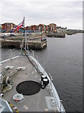 ST1167 : Barry waterfront, as seen from HMS Blyth by Gareth James