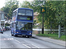 TQ2255 : Bus at Walton-on-the-Hill by Malc McDonald
