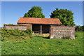 TF9625 : Old Flint Barn by Ashley Dace