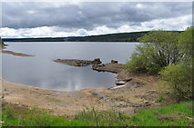 NY6491 : Kielder Water and disused gates to farm by Nicholas Mutton