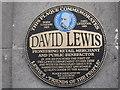 SJ3590 : Lewis's - plaque for founder David Lewis by John S Turner