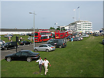TQ2158 : View along Ashley Road the B290 on Epsom Derby day by Nick Smith