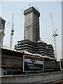 TQ3280 : The Shard: Steelwork erection by Stephen Craven