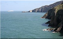 SH2082 : Coast near South Stack by Anne Burgess