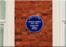 "J3272 : Thomas Andrews ""Titanic"" plaque, Belfast by Albert Bridge"