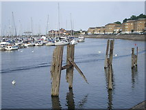 ST1872 : Penarth marina, with relics of the old docks by John Lord