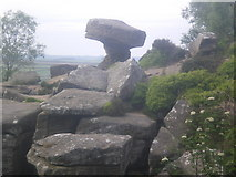 SE2065 : Brimham Rocks - Druid's Writing Desk by Tom Howard
