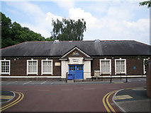 SJ8588 : Cheadle Village Hall, Brook Road by Robin Stott