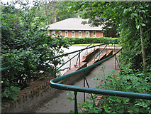 SJ8588 : Ramp to Riverside Consulting Centre, Mill Lane, Cheadle by Robin Stott