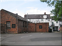 SJ8588 : Rear of the George & Dragon, High Street, Cheadle by Robin Stott