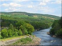 NN9357 : River Tummel heading downstream by James Denham