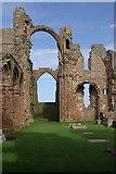 NU1241 : Lindisfarne Priory by Stephen McKay