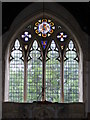 TM2368 : The window of St. Mary's Church, Worlingworth by Adrian Cable