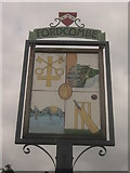 TQ5240 : Close-up of Fordcombe Village Sign  by David Anstiss
