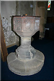 SK3030 : Font, All Saints Church, Findern by Kate Jewell