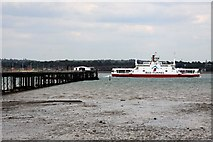 SU4208 : A car ferry passes Hythe Pier by Steve Daniels