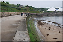TA0390 : Sea wall, North Bay by N Chadwick