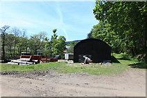 NM7047 : Wood yard at Achranich by Michael Jagger