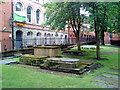 SK5739 : Tombs in the churchyard at St. Mary's, Nottingham by Andrew Abbott