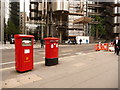 TQ3381 : London: postbox №s EC3 308 and 309, Leadenhall Street by Chris Downer