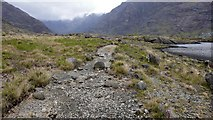 NG4820 : Footpath along the southern shore of Loch Coruisk by Anthony O'Neil