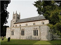 TF7928 : New Houghton St Martin's church by Adrian S Pye