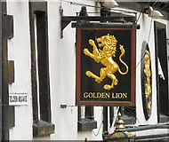 SD9323 : Sign for the Golden Lion by Gerald England