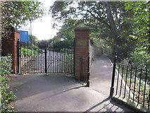 TA1181 : Entrance gate to St Oswald's churchyard, Filey by John S Turner