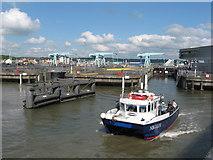 ST1972 : Cardiff Bay Barrage locks by Gareth James