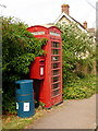 ST7821 : Fifehead Magdalen: postbox № SP8 62 and phone by Chris Downer