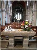 TA1181 : St Oswald's, Filey - stone altar by John S Turner