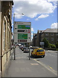 SD8432 : Road Sign, Yorkshire Street, Burnley by robert wade