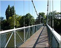 SX9291 : Trew's Weir Suspension Bridge, Exeter by Tom Jolliffe