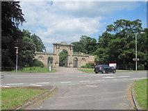 SJ5409 : Attingham Hall entrance by John Firth