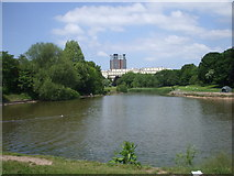 SJ3688 : The lake in Princes Park, Liverpool by John Lord