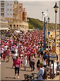 SZ1191 : Boscombe: pinkness on the prom by Chris Downer