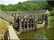 SK3281 : Sluice at Abbeydale Industrial Forge by Ashley Dace