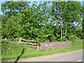 SP2266 : Station Road crosses a brook by Robin Stott