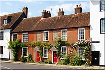 SU3521 : Houses in  The Horsefair, Romsey, Hampshire by Peter Trimming