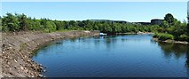 NS3977 : The River Leven at Dalquhurn Point by Lairich Rig