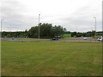NS3628 : Dutch House Roundabout at Monkton by M J Richardson